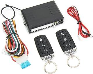 汎用 12V キーレスエントリーキット キーレスキット アンサーバック機能付き/ダミーセキュリティ付き リモコン2個付属 /93-206