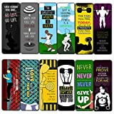 Creanoso Fitness Bookmarks (30-Pack) – Premium Gift Set – Awesome Bookmarks for Body Builders, Fitness Athletes, Men, Women – Six Bulk Assorted Bookmarks Designs – Cool Giveaways Set