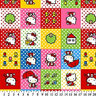 Hello Kitty Patches Fleece Fabric 393