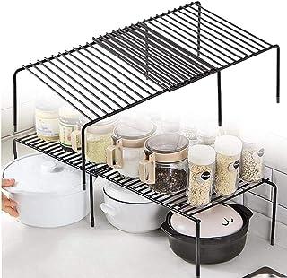 Armoire de Cuisine étagère de Cuisine étagère de Cuisine autoportante étagère de Rangement étagère Extensible Organisateur...