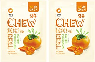CJW Korean 100% Dried Sweet Persimmon Chew Snack 1.34 Oz. (Pack of 2)
