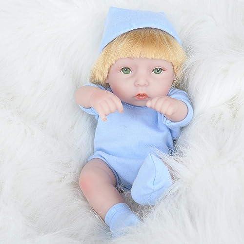 Hongge Reborn Baby Doll,Juguete del bebé Realista muñeca Gel Suave Completo Reborn Baby cumpleaños Regalo 28cm