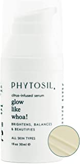 Phytosil Glow Like Whoa! Vitamin C Face Serum – With a Natural and Luxurious Citrus-Infused Formula for Skin Brightening, Anti-Aging and Cell Regeneration for All Skin Types – Made in USA, 1 fl oz