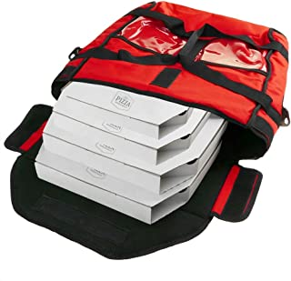 CityBAG - Borsa isotermica 40 x 40 x 16 cm Rossa per la Consegna a Domicilio della Pizza in Moto e in Bicicletta