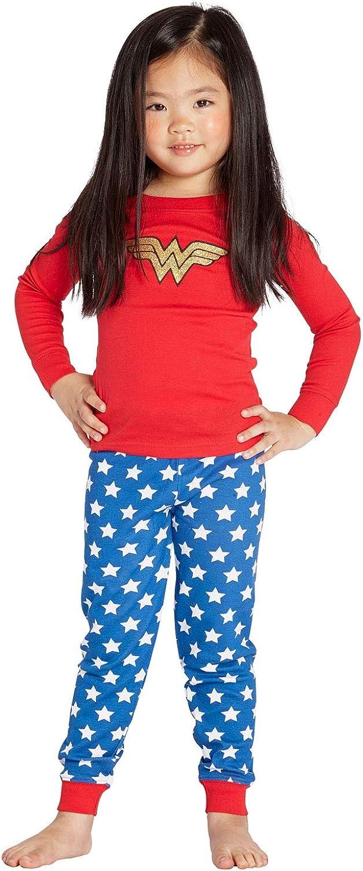 Intimo Girls Wonder Woman Glitter Logo Infant Pajama Set