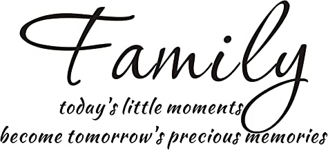 Everysticker4u Today's Little Moments Becomes Tomorrow's Precious Memories Family Inspirational Mural Quote Vinyl Wall Sticker Decals Transfer Words Lettering (Size1: 23