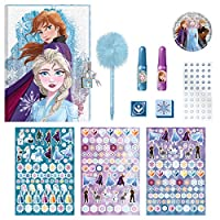 ディズニー アナと雪の女王 2 アナとエルサ 日記帳セット ロック、ステッカー、ペン付き