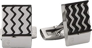 Diamond Moon Stainless Steel Cufflinks for Men, Stainless Steel - 1800541240463