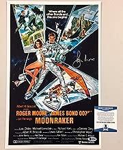 Roger Moore Signed Moonraker James Bond 11x17 Movie Poster Photo BAS Beckett COA