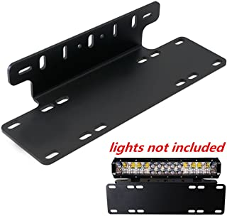 Triclicks Universal Schwarz Kennzeichenhalterung Nummernschildhalter LED Lichtleiste Halter für Auto, Lkw, Pickup, SUV, 4x4