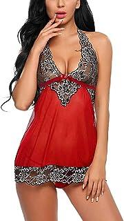 7effa3210e35 Lenceria Erotica de Mujer, ☀URIBAKY® Mujer Saltos de Cama Camisón  Transprente Erótica Ropa