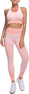 Workout Sets for Women Yoga Pants Set Long Sleeve Tracksuit Thumb Hole Front Zipper Crop Activewear Tops