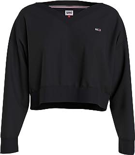 Tommy Jeans Tjw Soft V Neck Sweatshirt Maglione Donna