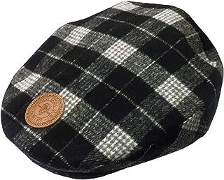 Grey Tweed Patch Flat Cap