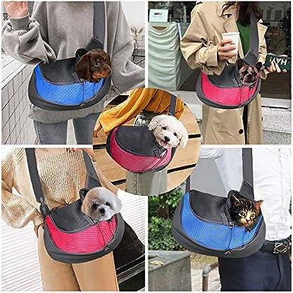 BIGWING Style Pet Sling Carrier for Dog Cat Pets Travel Shoulder Bags (L, Blue) 3