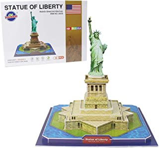 FREENFOND 3D Puzzle Statue of Liberty Model Building Paper Craft Kits and Toys for Children and Teens, Adults