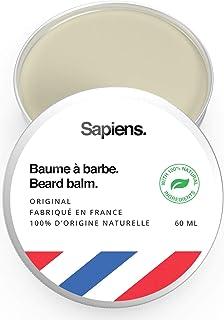 Bartbalsam 100% natürlich 60ml von Sapiens   Hergestellt in EU   Strukturwachs für Bartpflege und Schnurrbart   Bienenwachs, Rizinusöl und Sheabutter   Strukturiert, befeuchtet und nährt