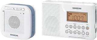 Sangean H201P Portable Waterproof Bluetooth Speaker and Portable AM/FM/Weather Alert Digital Tuning Waterproof Shower Radio