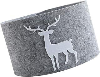 TOYANDONA Christmas Tree Collar Skirt Reindeer Xmas Tree Collar Basket Ring Base Stand Cover Mat Farmhouse Holiday Under C...