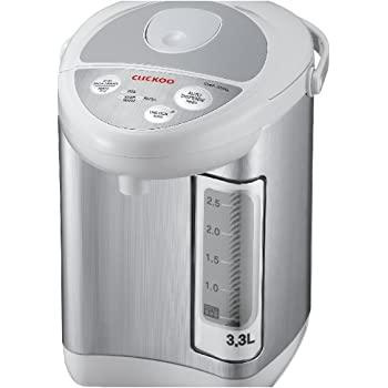 Cuckoo CWP-333G Electric Thermal Pot, 8.7 x 7 x 12.4 inches, Silver