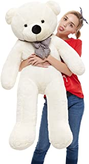 MaoGoLan 39'' Soft 100% Pp Cotton Toy Giant 100cm Big Cute White Plush Teddy Bear Huge by Lanna Siam
