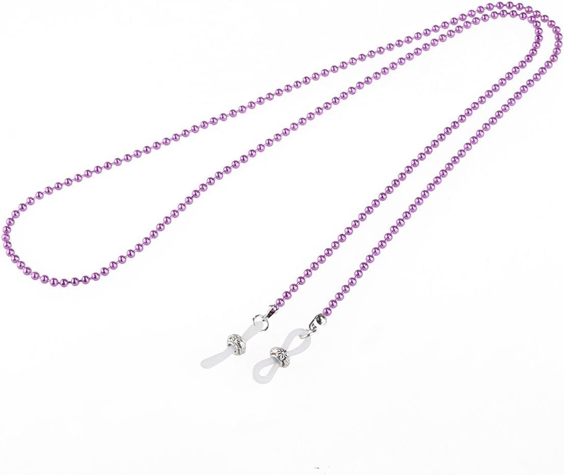 UEETEK Iron Bead Eyeglass Chain Sunglasses Chain Cord Neck Strap Holder Necklace Purple