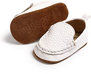 Infant Baby Boys Girls Loafers Shoes Slip On PU Leather Moccasin Slipper Toddler First Walker Crib Dress Shoes(0-18 Months)