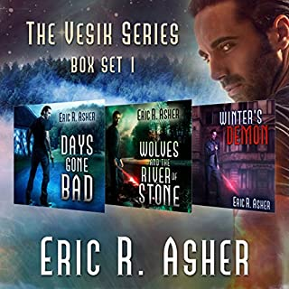 The Vesik Series: Books 1-3     Vesik Series Box Set              By:                                                                                                                                 Eric Asher                               Narrated by:                                                                                                                                 William Dufris                      Length: 28 hrs and 25 mins     1,302 ratings     Overall 4.3