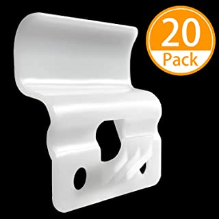 Vinyl Siding Hooks (20 Pack), Plastic White Outdoor Low Profile Hanging Clips No-Hole Needed Vinyl Siding Hanger