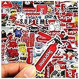 ZJJHX Personalidad Street Brand Supreme Sticker Maleta Trolley Guitarra Notebook Personalidad Sticker 50 Hojas