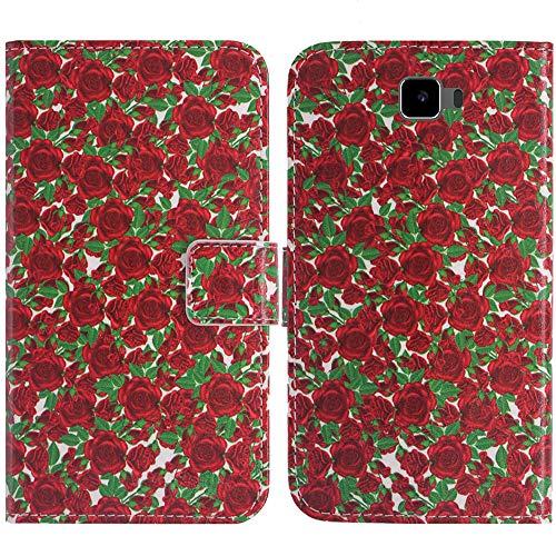 TienJueShi Rose Blume Flip Book Stand Brieftasche Leder Tasche Schütz Hülle Handy Handy Hülle Für Archos 55 Cobalt Plus Abdeckung Fall Wallet Cover Etüi