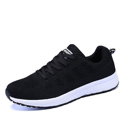 detailed look 367f3 fc379 Zapatillas de Deportivos de Running para Mujer Gimnasia Ligero Sneakers  Negro Azul Gris Blanco Verde 35