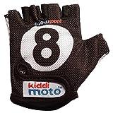 KIDDIMOTO Kinder Fahrradhandschuhe Fingerlose für Jungen und Mädchen/Fahrrad Handschuhe/Bike Kinder Handschuhe - Billiard 8 - M (4-8y)