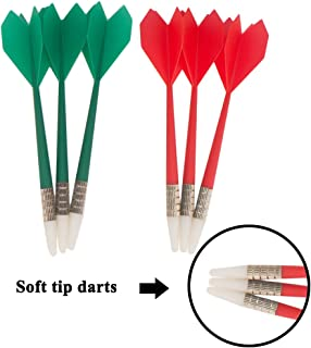 Huvai 6 Pcs Safety Darts with Soft Tip for Dartboard, Great for Children and Adults, Office and Family Time