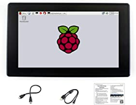 Waveshare Raspberry Pi IPS 1024x600 7inch HDMI LCD H with Case Monitor Capacitive Touch Screen with Toughened Glass Cover Supports Multi Mini PC Raspberry Pi BB Black Banana Pi
