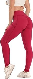 SEASUM Women Scrunch Butt Yoga Legging High Waist Workout Gym Ruched Pants Booty Push Up