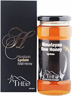 Theo Organics Himalayan Lychee Raw Honey- Finest 100% Natural Unprocessed Honey- 500Gm