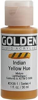 Golden Fluid Acrylic Paint 1 Ounce-Historical Indian Yellow Hue