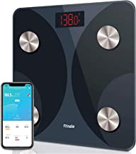 Fitnale Smart Digital Weight Scale, Bathroom Body Fat Analyzer Tracks 12 Key Compositions, Sync with Fitbit, Apple Health ...