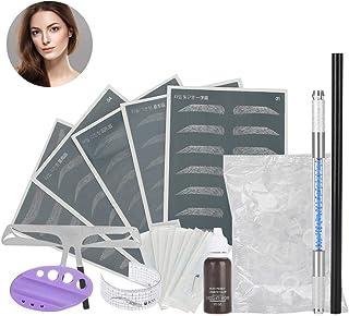 Wenkbrauwen Tattoo Kit,Semi-permanente Wenkbrauw Make up Tattoo Pen Microblading Liniaal Kit PracticeTools met Wenkbrauw P...