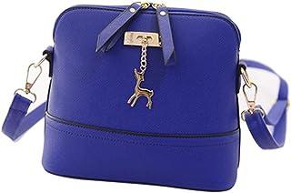 "Start Women's Single Shoulder Bags Zipper Sling Bag Large (29 17 48/11.4 6.7 18.9"") Blue"