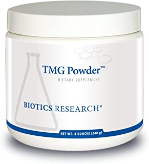 Biotics Research TMG Powder – Trimethylglycine. Betaine. Powdered Formula. Methyl Donor. Vascular Protection. Muscle Gain....