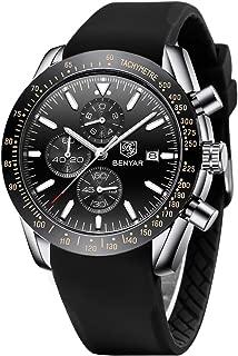 BENYAR Fashion Men's Quartz Chronograph Waterproof Watches Business Casual Sport Design Wrist Watch for Men