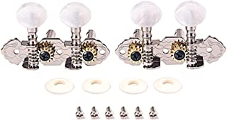 Alnicov Tuning Pegs Machine Heads 2R2L Tuners For Ukulele 4 String Guitar,Chrome