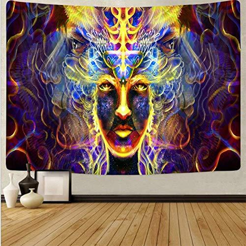 Arte psicodélico tela colgante decoración del hogar tapiz dormitorio dormitorio revestimiento de paredes tela de fondo abstracto a17 150x200 cm