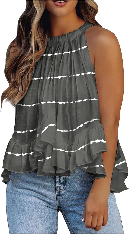 Women's Summer Halter Tank Top Sleeveless Shirt Loose Blouse Vest Cami Shirts