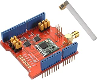 Dragino Lora Shield 915Mhz, RFM95W Wiless, Compatible with Arduino UNO Mega 2560 Leonardo Due, 3.3V or 5V Low Power Consumption, Antenna IPEX