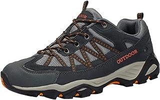 HEETEY Zapatillas de senderismo de malla transpirable para hombre, ligeras, antideslizantes, para exteriores, para correr,...