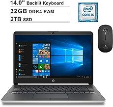 2020 Newest HP Pavilion 14 Inch Laptop (Intel Quad-Core i5-8265U up to 3.9 GHz, 32GB RAM, 2TB...