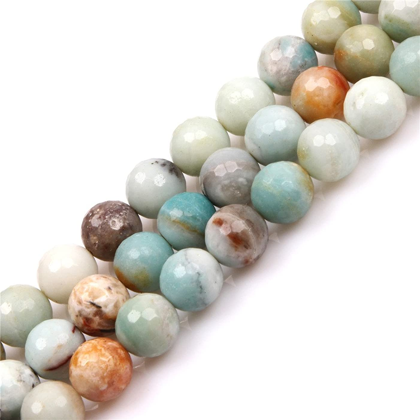Amazonite Beads for Jewelry Making Natural Semi Precious Gemstone 14mm Round Faceted Strand 15